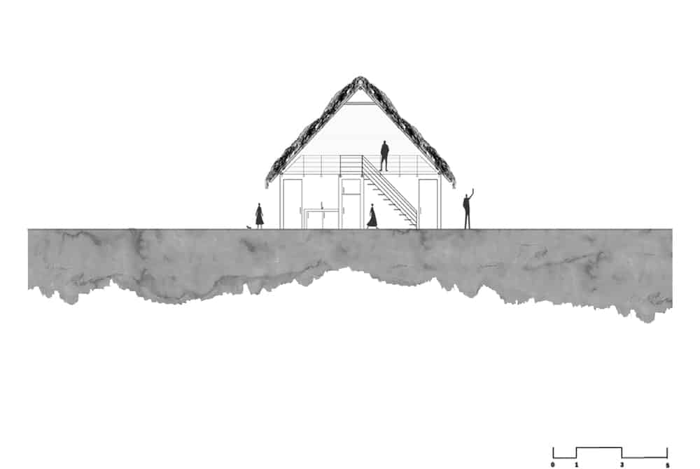 This is an illustrative representation of the cross section of the house.