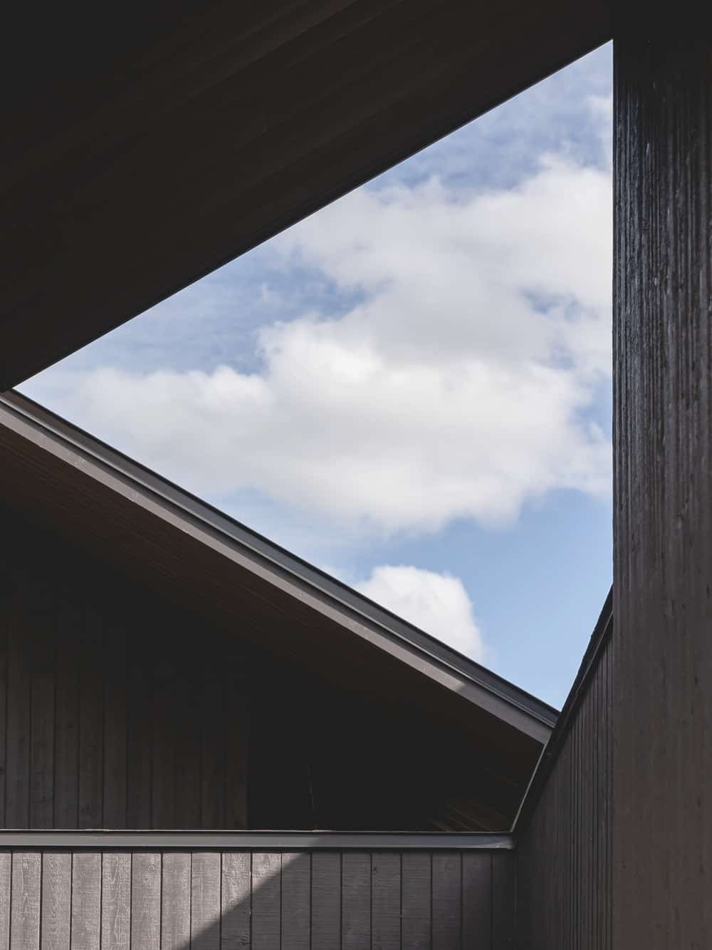 This is a close look at the skylight of the house that brings in natural lighting.