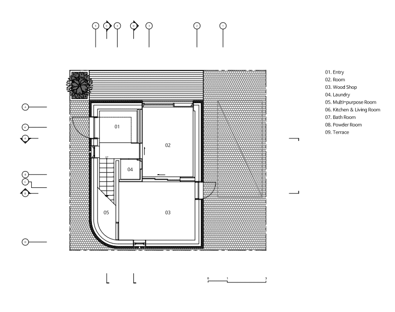 This is an illustrated view of the first level floor plan.