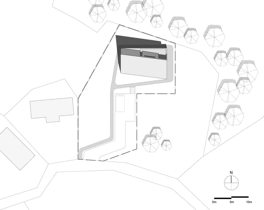 This is an illustrative view of the house site plan.