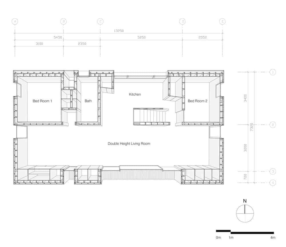 This is an illustration of the first level floor plan.