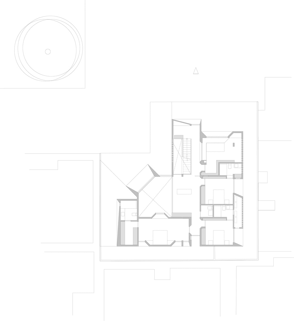 This is an illustration of the second level floor plan.