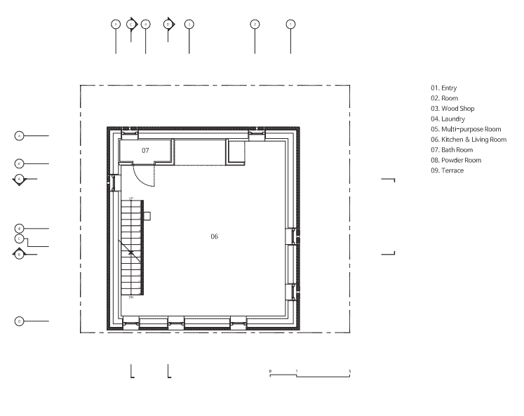 This is an illustrated view of the second level floor plan.