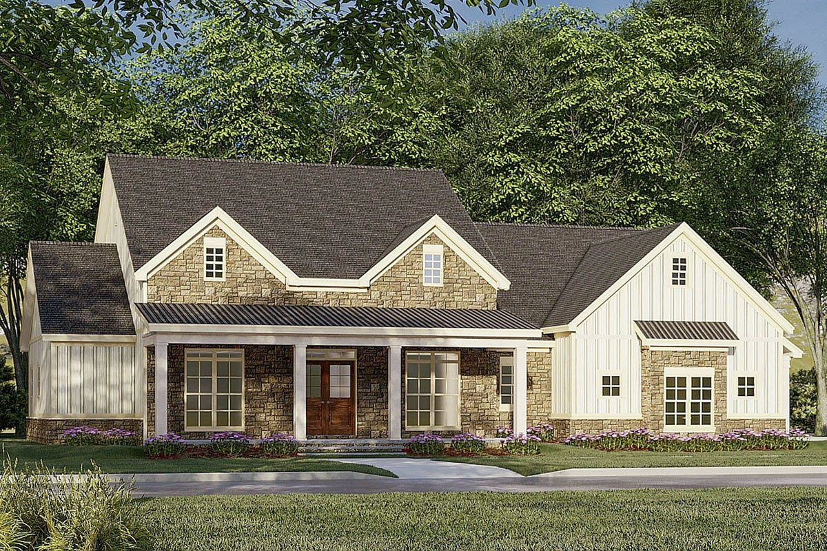3-Bedroom Two-Story Modern Farmhouse with Upstairs Bonus Room