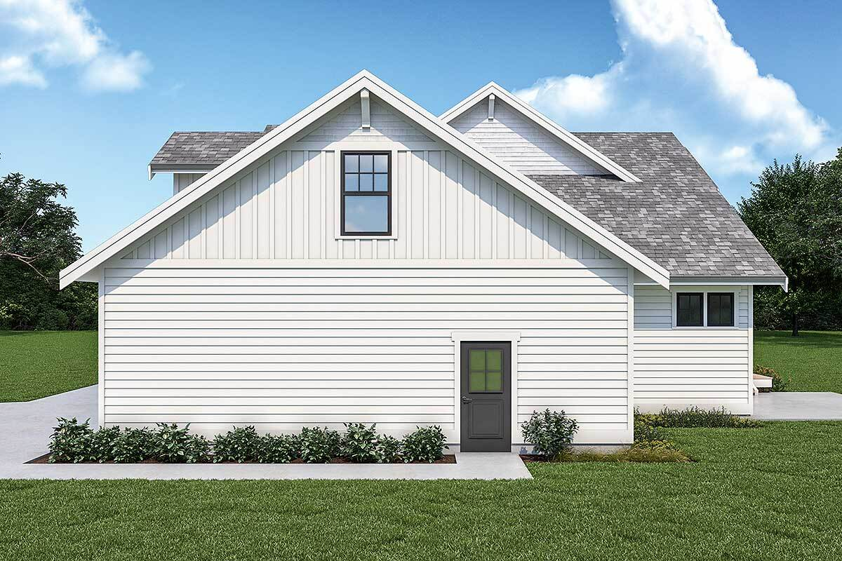Right rendering of the 3-bedroom two-story New American home.