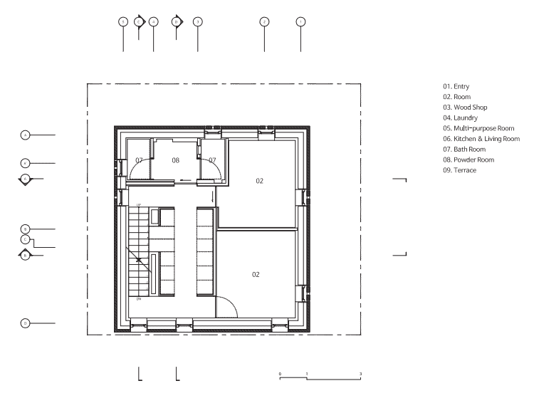 This is an illustrated view of the third level floor plan.