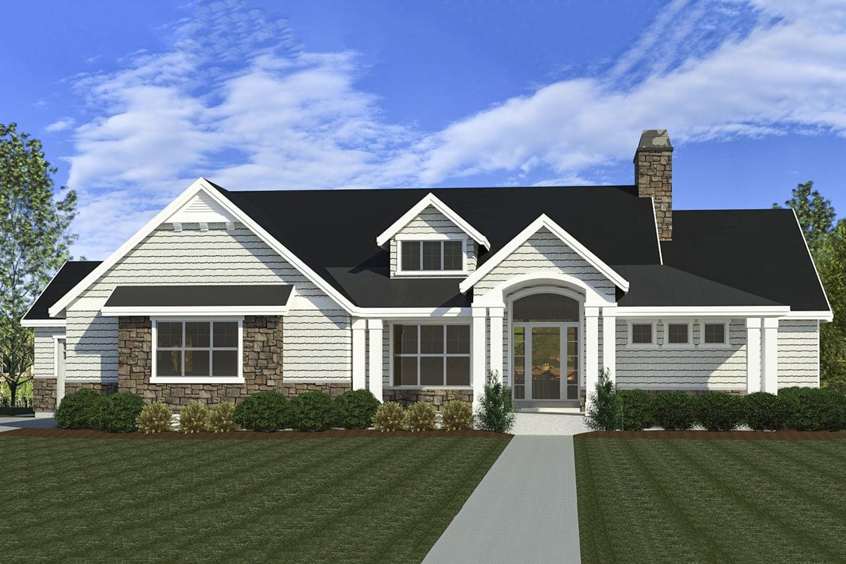 4-Bedroom Single Story New American Home with Open Concept Living