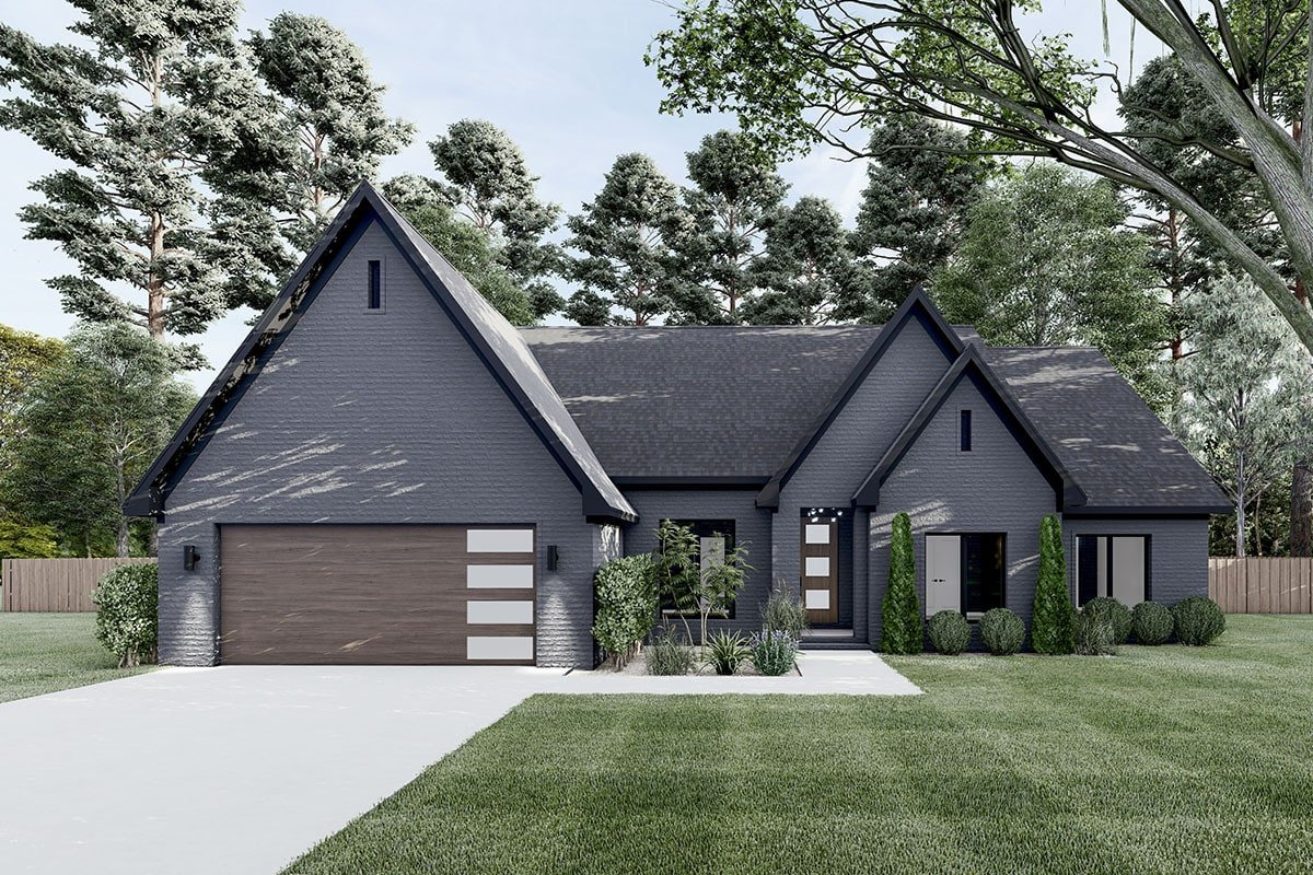 4-Bedroom Single-Story Northwest New American Home with Open Concept Living