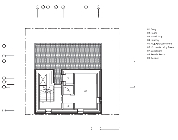 This is an illustrated view of the fourth level floor plan.