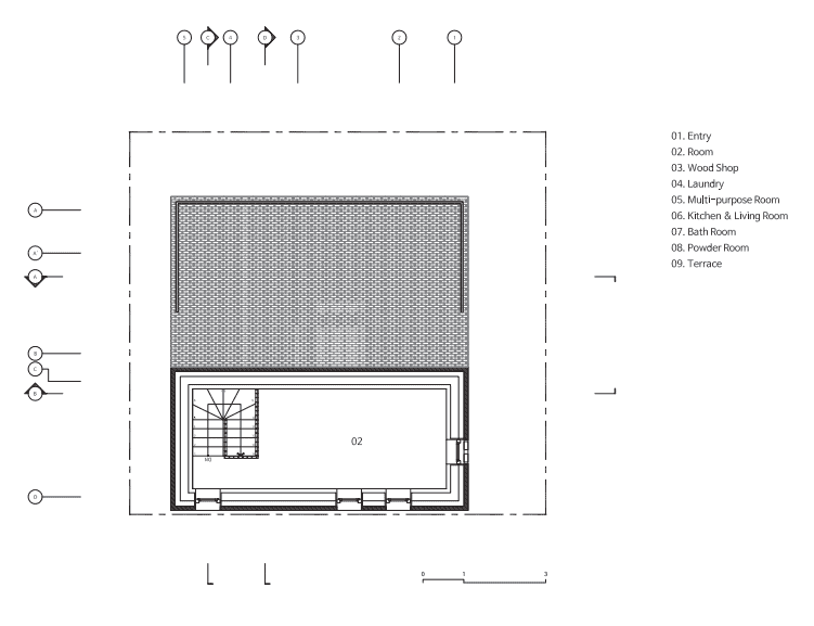 This is an illustrated view of the fifth level floor plan.
