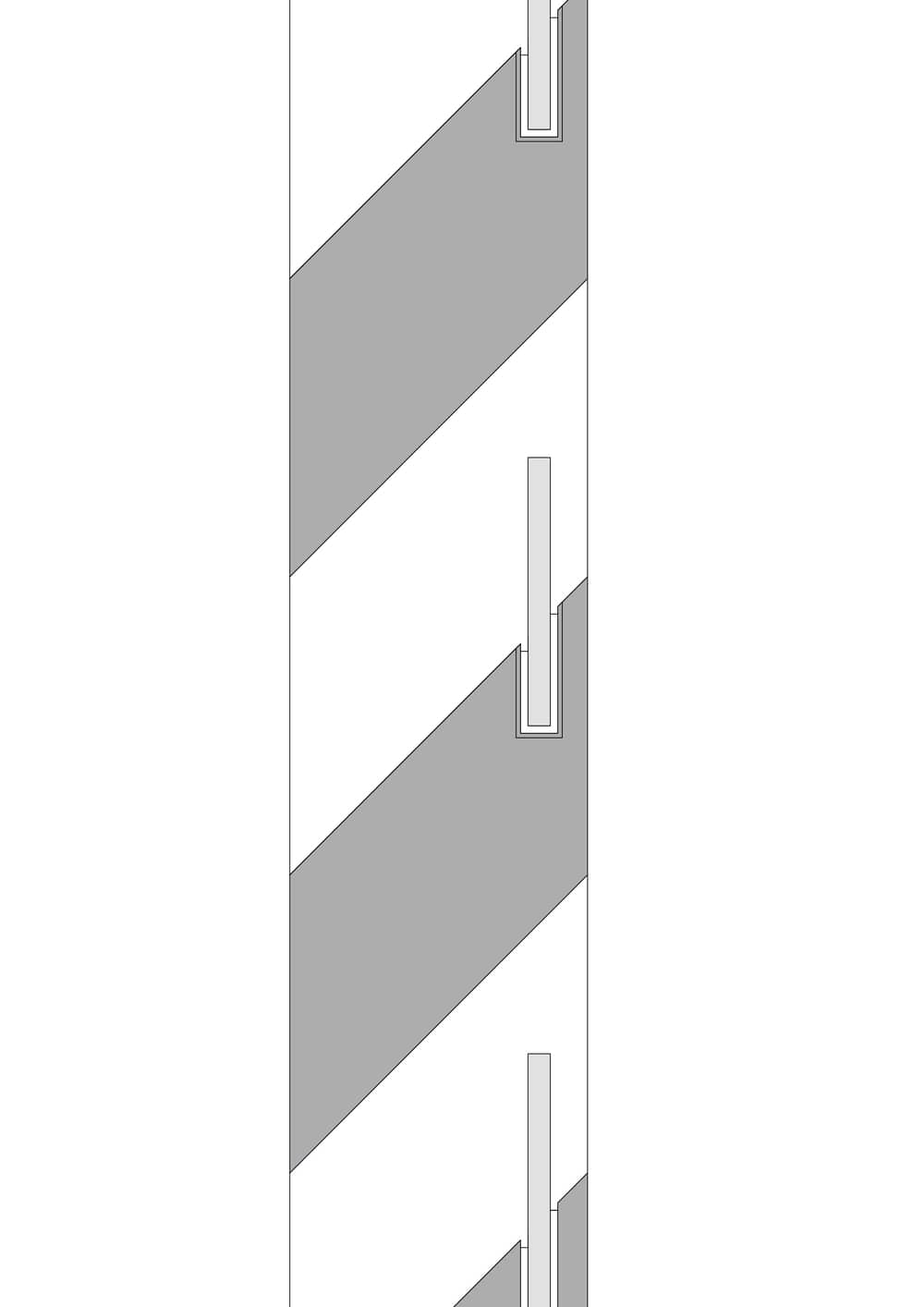 This is an illustration of the detail of window of the house.
