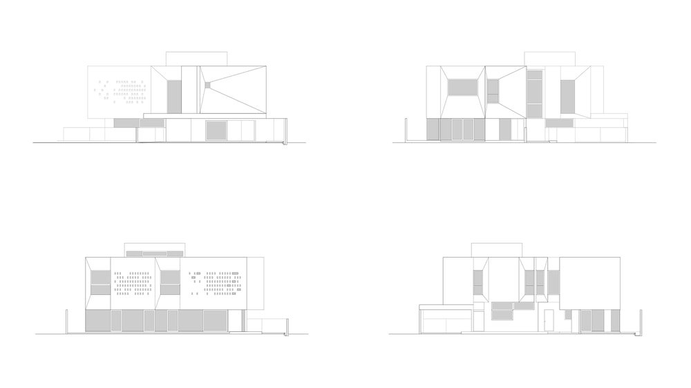This is an illustration of the various elevations of the house.