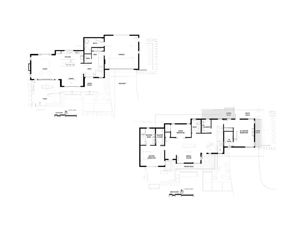 These are the illustrated floor plans of the house.