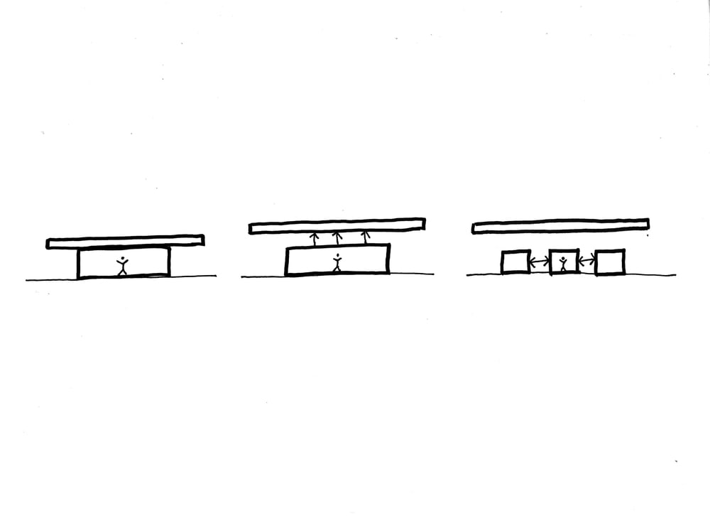 This is an illustrative diagram of the house depicting the sections of the house.