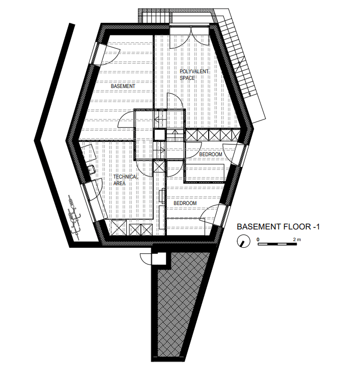 This is the illustration of the basement level floor plan.