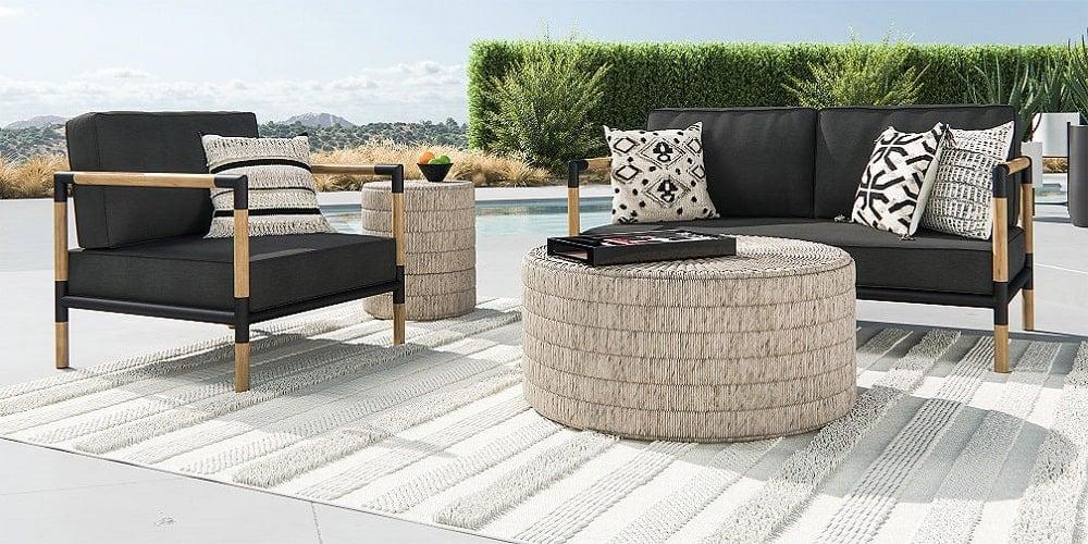 Crate and Barrel outdoor sofa set