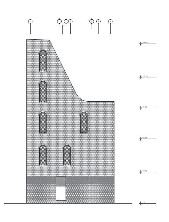 This is an illustrative representation of the east elevation of the house.