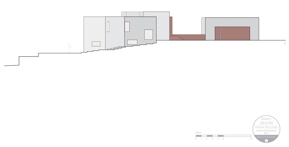This is an illustration of the house's side elevation.