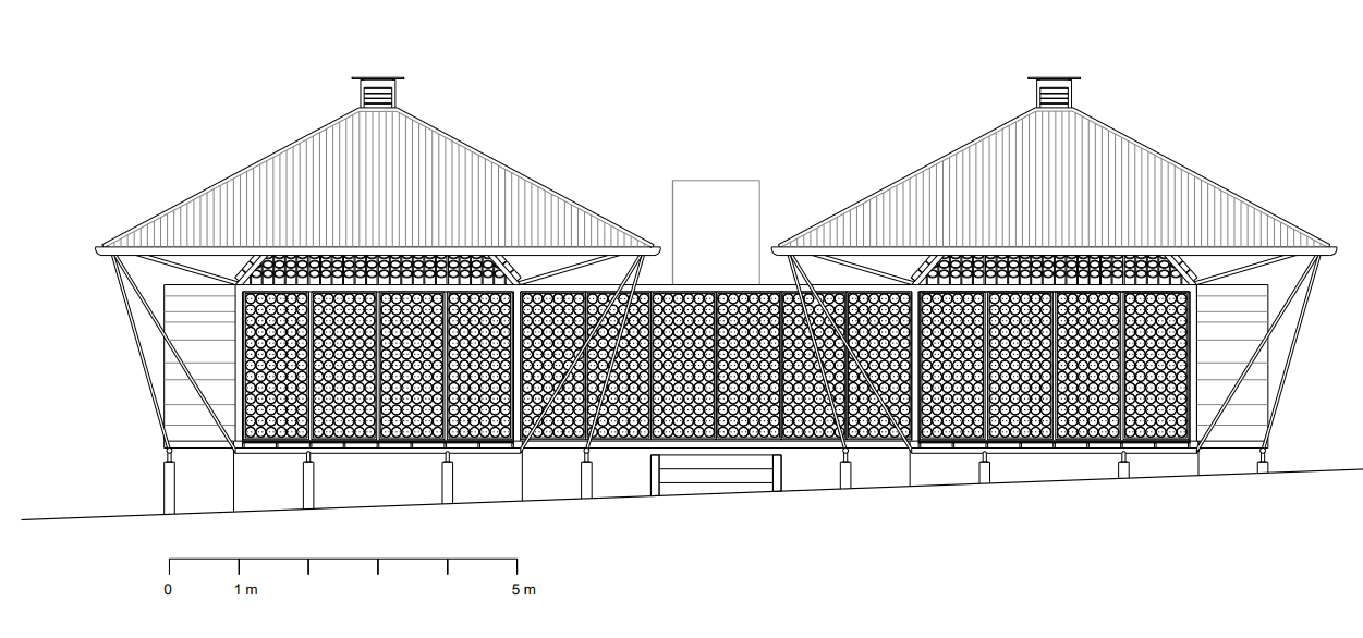 This is the illustrative representation of the front elevation of the house.