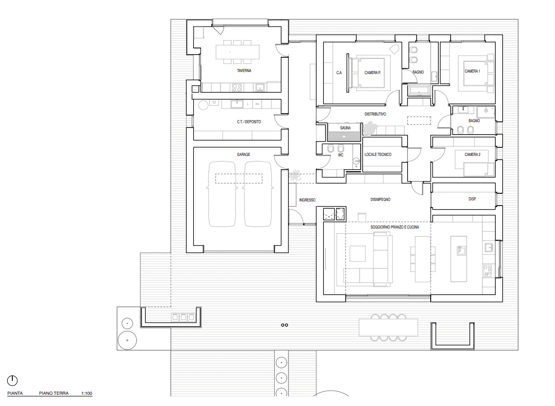 This is an illustrative view of the floor plan of the house.