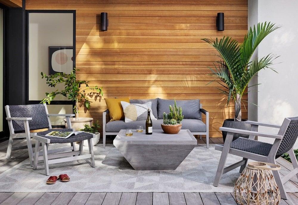 Four Hands outdoor sofa set
