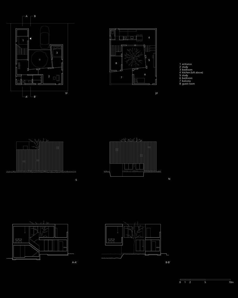 These are illustration of the floor plans and elevations of the house.