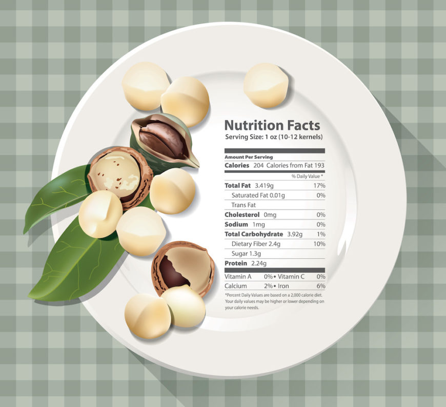 Macadamia nuts nutritional facts