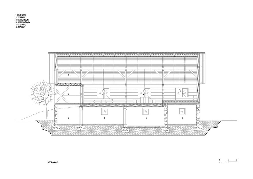 This is an illustration of the house's elevation,