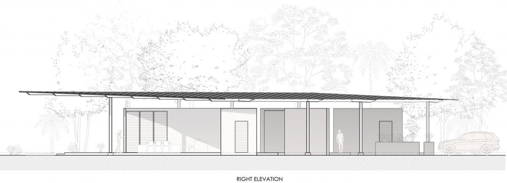 This is an illustration of the house's right elevation.