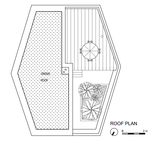 This is the illustration of the roof level floor plan.