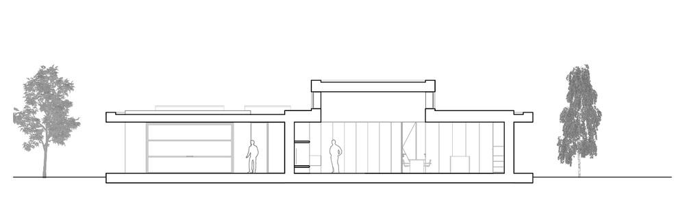 This is an illustrative view of the cross elevation of the house.