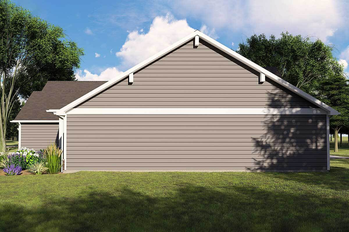 Right rendering of the single-story 3-bedroom Northwest ranch.