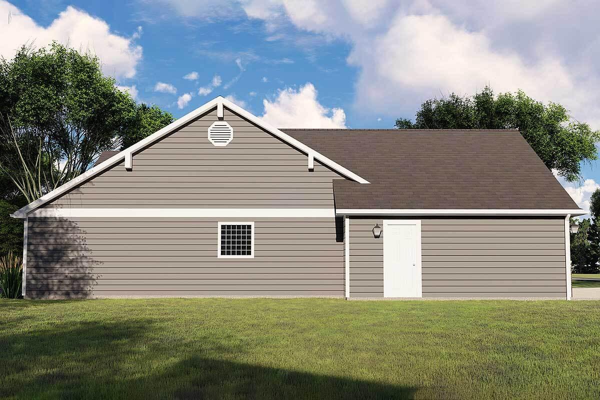 Left rendering of the single-story 3-bedroom Northwest ranch.