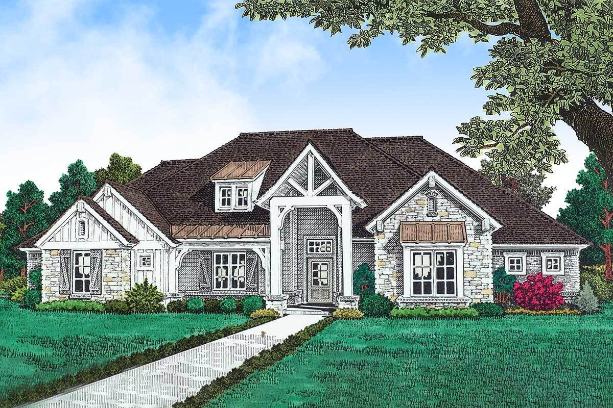 Single-Story 4-Bedroom Hill Country Home with Three-Car Garage