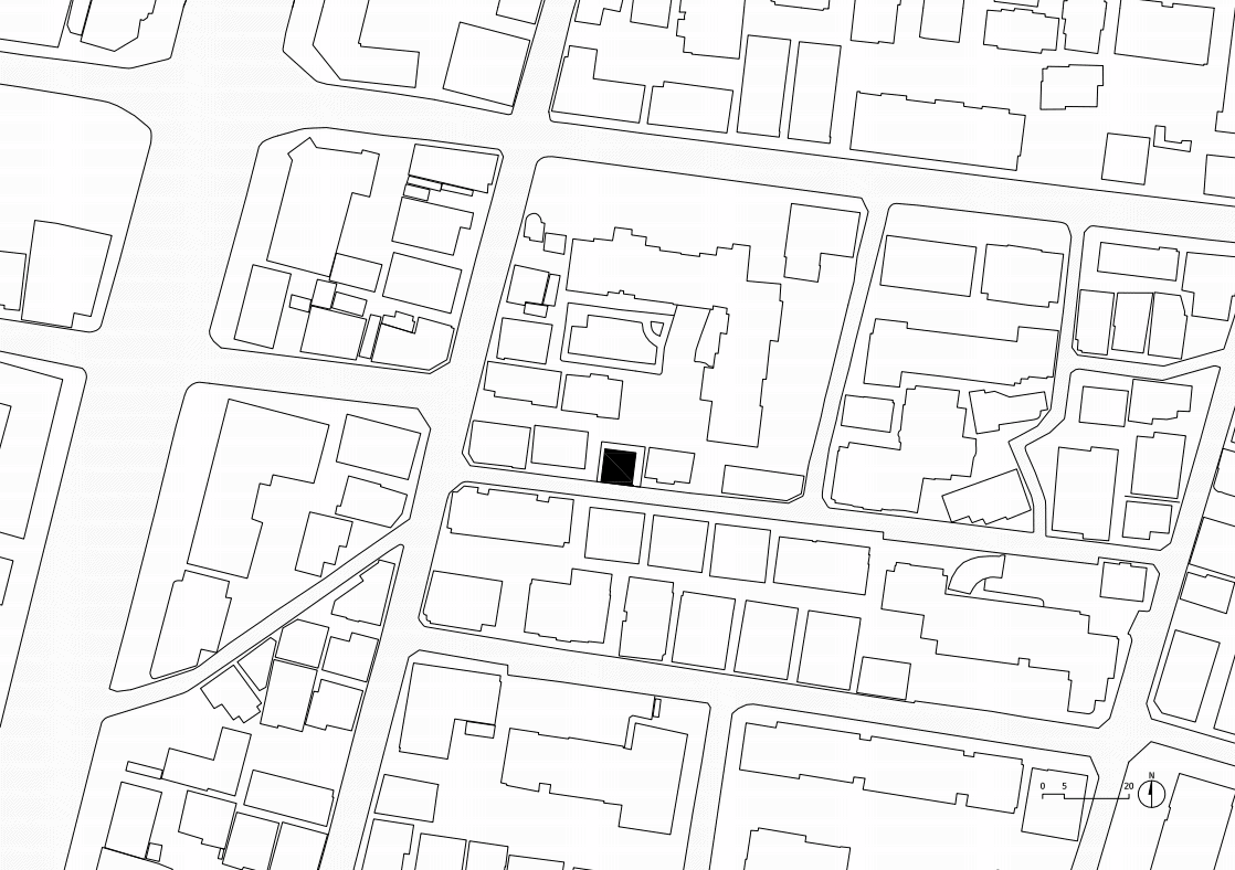 This is a map view of the site plan showing the house's area in the neighborhood.