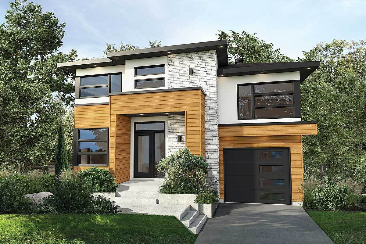 Two-Story 3-Bedroom Contemporary Home with Open Living Space