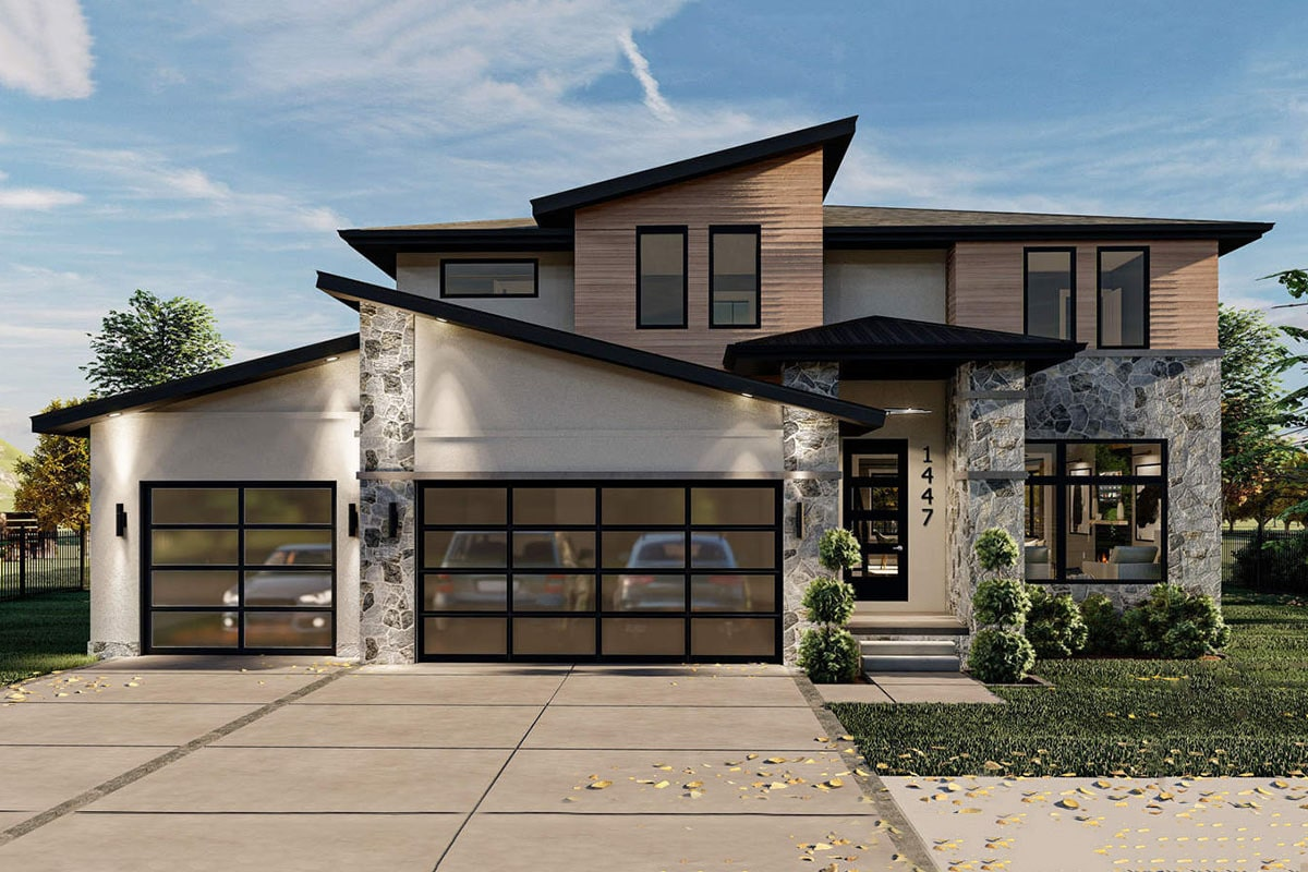 Two-Story 4-Bedroom Modern Home with 3-Car Garage
