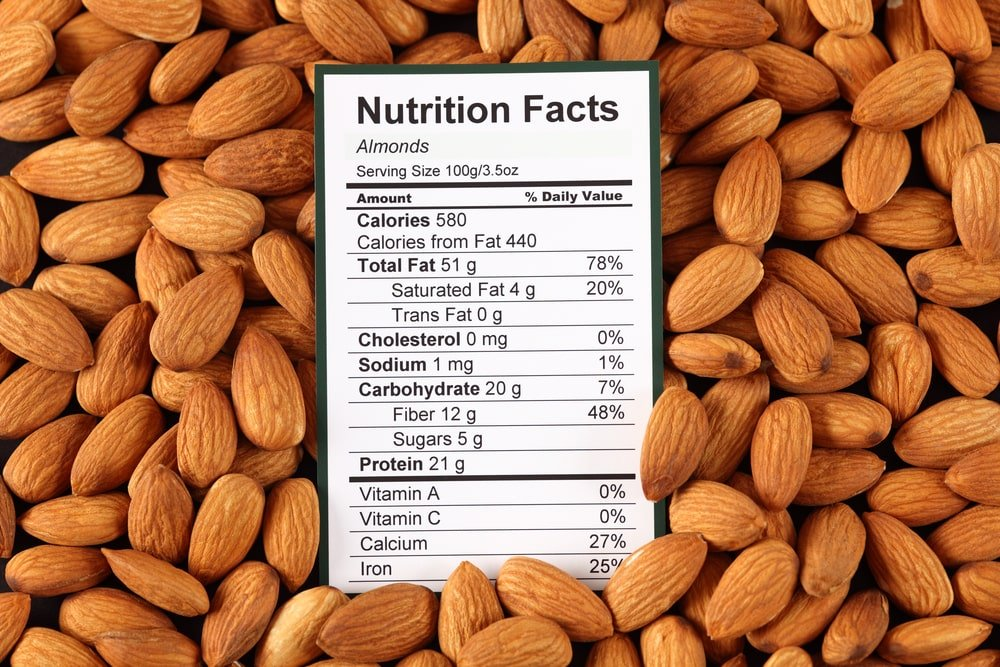 Almonds' nutrition facts