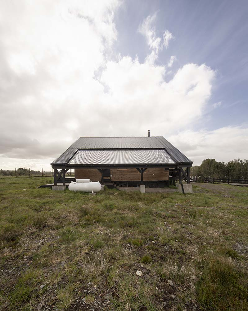 This is a look at the elevation of the house that contrast with the grasslands.