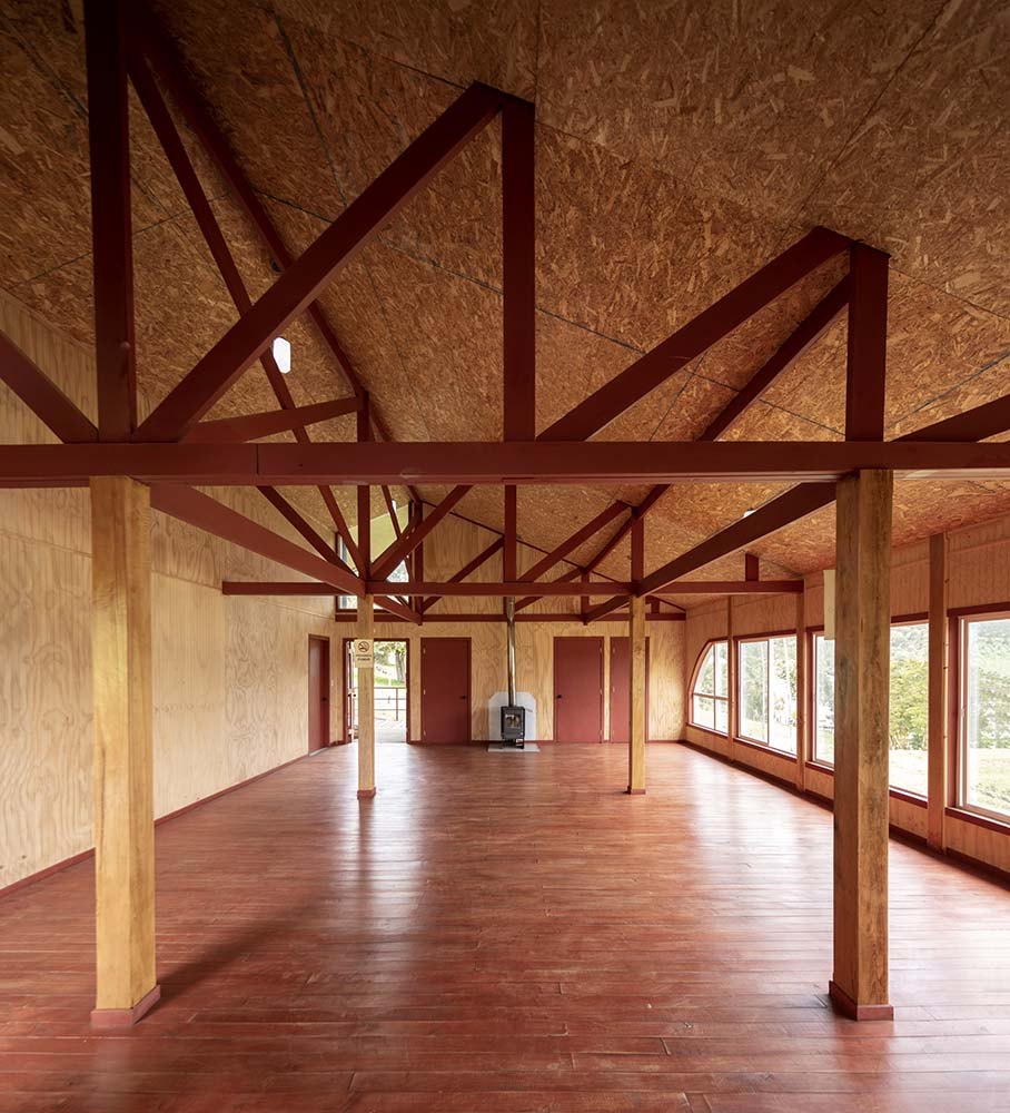 This is a view of the large open-style interior from the vantage of the foyer.
