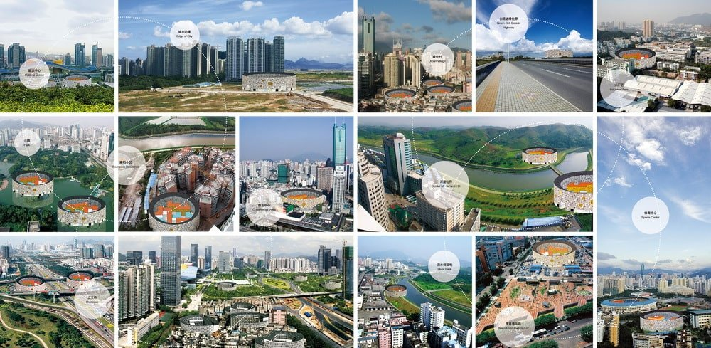 These are various photos depicting how the collective housing would fit in with other major cities.