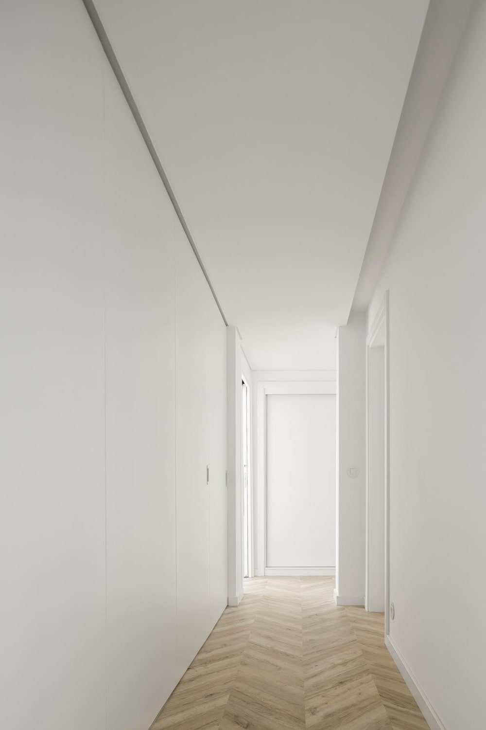 This is the hallway that is formed when the folding doors are closed.