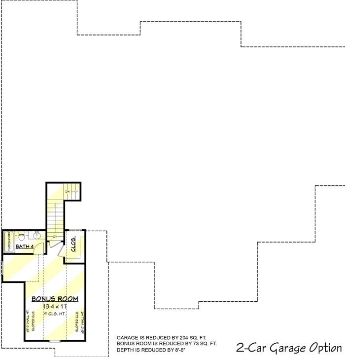 2-car garage option bonus room