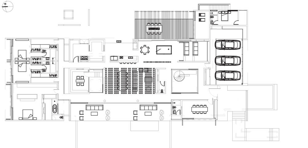 This is an illustration of the house ground level floor plan.