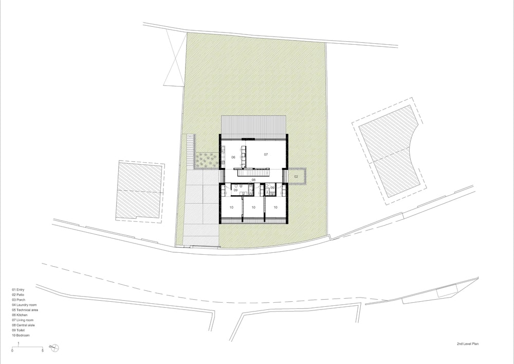 This is the illustration of the second level floor plan of the house.