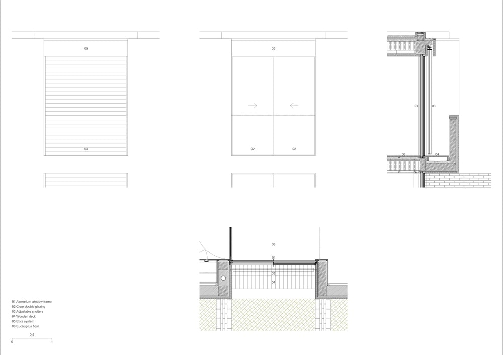 This is an illustration of the house's foundation and support beams and panels.