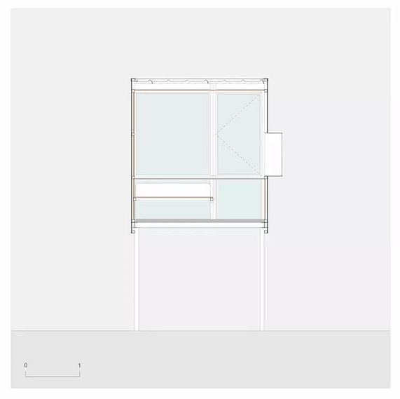 This is an illustration of the third level floor plan.