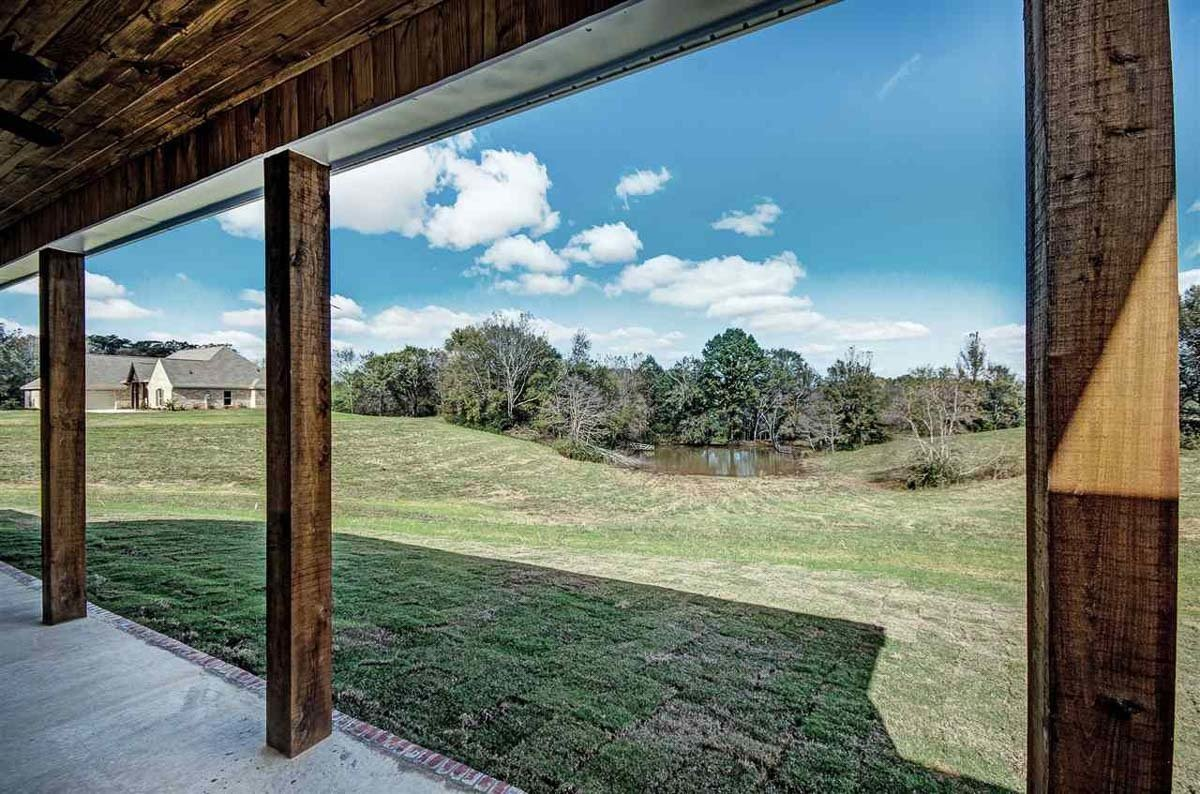 View of the expansive surrounding from the covered porch.