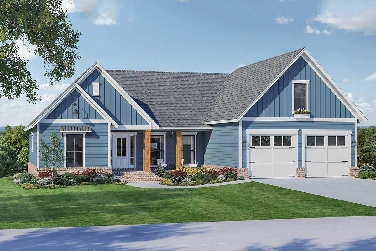 4-Bedroom Two-Story Country Home with Bonus Room Above Garage