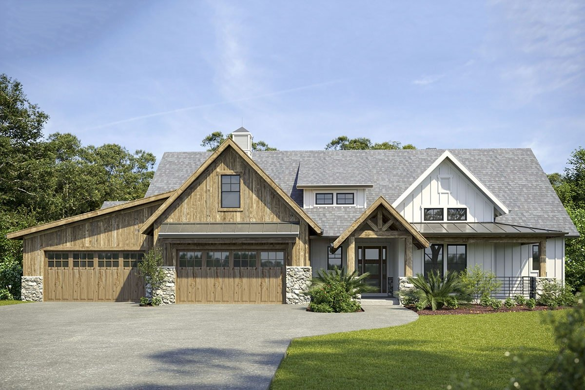 4-Bedroom Two-Story Mountain Modern Home with In-Law Suite and 4-Car Garage